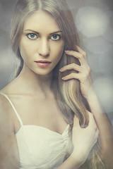 Sandra (Sebastian Krzeminski) Tags: wedding light woman white sexy girl beauty fashion photoshop hair studio photography photo glamour eyes dress dish sandra bokeh top s ps lips jersey glam seb elinchrom beautydish krzeminski