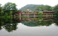 China Guilin Yijiangyuan Ethnic Cultural Park (Konstantin's Europe and more) Tags: water mirror unexpected