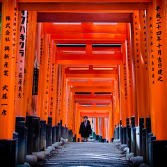 Fushimi Inari shrine. Kyoto, Japan. (ravalli1) Tags: art japan architecture kyoto shrine asia religions fushimiinari nationalgeographic shintoism