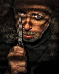 A Clockwork Orange (TheWalkinMan) Tags: selfportrait face nikon knife