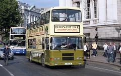 RA216, in late evening sun at Trinity September 2001 (D464-Darren Hall) Tags: city dublin volvo tour alexander rh dublinbus volvoolympian busathacliath alexanderbelfast dublincitytour ra216 95d216