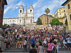 Spanish Steps, Rome, Italy (Robby Virus) Tags: italy rome church architecture italian catholic roman steps piazzadispagna spanish piazza bourbon alessandro trinitàdeimonti specchi francescodesanctis
