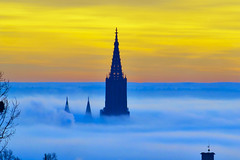 Sunrise over Ulm (neoBIT) Tags: sunrise germany day cloudy ulm badenwürttemberg ehrenstein ulmminster potd:country=de
