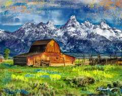 (James Neeley) Tags: digitalpainting grandtetons tetons jamesneeley