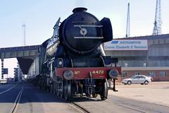 IMG_3736 - 4472 Flying Scotsman - Southampton Docks - 07.04.02 (Colin D Lee) Tags: uk docks southampton preservation flyingscotsman steamlocomotive lner 4472 462 uksteam britishsteam a3class