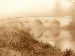 Milon Ferry Sepia bridge (saxonfenken) Tags: pregamewinner 7047bridge 7047 bridge miltonferry peterborough cambs sepia fogmist morning gamewinner herowinner yourockwinner favescontestwinner friendlychallenges thechallengefactory gamex2 challengeyouwinner cyunanimous