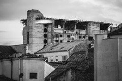 Roofs #56/365 (A. Aleksandravičius) Tags: roof bw white black oneaday canon buildings roofs photoaday 365 70200 lithuania pictureaday kaunas 70200mm lietuva 56365 markiii project365 365days 2013 canoneos5dmarkiii 3652013
