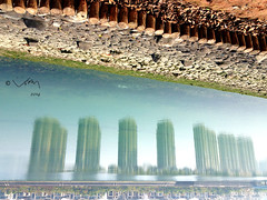 reflection (vianistor) Tags: world shadow lake reflection water upsidedown secret inverted 2014