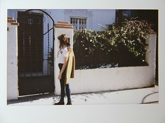 (Lawniczek) Tags: door white house home girl sunshine hair polaroid wind young teen brunette instax céline