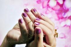 "Desafio ABC das Unhas - Letra ""Q"" (Walquiria R.P.) Tags: glitter nail quartzorosa esmaltenacional novotoque3d"