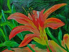 Kim's Daylily (BKHagar *Kim*) Tags: flowers art floral painting fun artwork paint acrylic withmom artday bkhagar
