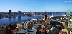 Riga (EdoardoCiervo) Tags: city panorama tower church del torre fiume baltic unesco chiesa duomo gita riga citt lettonia patrimonio regione baltico beutifull