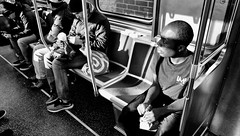 Red Line Winter (draketoulouse) Tags: chicago lakeview cta redline street streetphotography sunlight shadow people blackandwhite monochrome subway train window race segregation