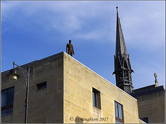 Oxford_2017_1 (johnzsv) Tags: oxfordshire oxford olympus england em1mk2 m1 mk2 sculpture cityscape rooftop outdoor gormley anthonygormley
