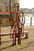 Micheal Caine sculpture Greenland Dock. (Peter Anthony Gorman) Tags: rotherhithe greenlanddock michaelcaine sculpture memorial