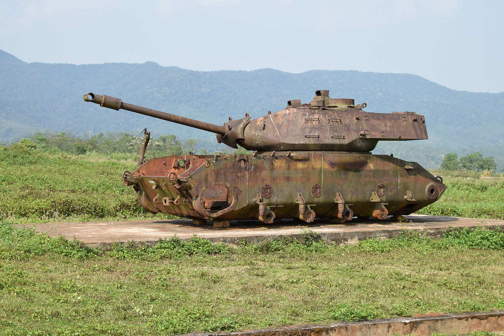 Wrecked tank, Khe Sanh Combat Base (Ta C by Paul Mannix, on Flickr