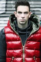 Model in Duvetica Red Vest (vanes_hud) Tags: duvetica shiny glanz glänzend gstar fashion trendfashion badboy baggy intense bad boy cute hottie jeans gay model malemodel teenager leder malefashion mode