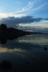 Girl's Not Grey (Swebbatron) Tags: australia 2008 brisbane queensland deceptionbay work reflection sunset sea ocean fuji radlab