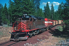 Heading home (C.P. Kirkie) Tags: mccloudriverrailroad mccloud mccloudcalifornia california burney northerncalifornia shastacascadewonderland shastacounty mr sd38 emd trains freighttrain forest railroads timberindustry