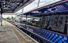 Stirling Silver (whosoever2) Tags: scotrail class170 reflection stirling station scotland uk gb train railway railroad sony dsc rx100m3 may 2016