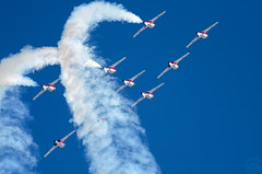 The RCAF Snowbirds! (C McCann) Tags: snowbirds planes jets aviation cfb comox britishcolumbia canada vancouverisland rcaf 431ads 431 squadron roll airshow