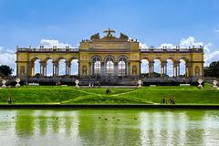 Gloriette, Vienna (holgerschmiel) Tags: vienna austria europe summer city classic architecture baroque gloriette schönbrunn pond imperial tourists