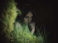 Hidden (i-r-paulus) Tags: hidden cave mossy woodland magical sprite portrait pentaconlens sonya7r moody themed girl model pensive