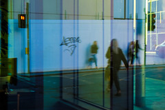 Walk This Way (John fae Fife) Tags: streetview fujifilmx distortions scotland streetscene street reflections xe2 glasgow