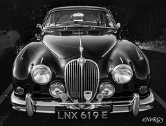 Jaguar MK2 (deltic17) Tags: car historic classic blackwhite monochrome motorsport heritage jag jaguar mk2 jaguarmk2 38 1967 lnx619e carltondistrictmotorclub driveitday bradmoreclassics canon camera photography canon5dmk3 canonraw