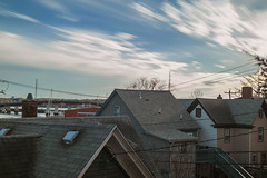 Cloudcover (wardephoto) Tags: longexposure landscapephotography longexposurephotography superlongexposure sunset sunsetcolors newengland spring clouds longexposureclouds diy nikon nikond3300 lightroom weldingglass urban urbanlandscape urbanphotography suburb 35mm