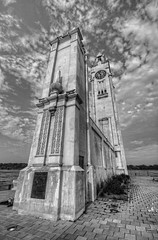Montreal Clock Tower in black and white (cmfgu) Tags: montreal quebec canada oldmontreal oldport vieuxport montrealclocktower clocktowerquay stlawrenceriver hdr highdynamicrange bw blackandwhite monochrome craigfildesfineartamericacom fineartamericacom craigfildes artist artistic photographer photograph photo picture prints art wall canvasprint framedprint acrylicprint metalprint woodprint greetingcard throwpillow duvetcover totebag showercurtain phonecase sale sell buy purchase gift