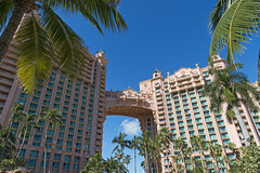 The Royal Towers (Tambako the Jaguar) Tags: royaltowers perspective palmtree tree view landscape sky atlantisresort paradiseisland nassau bahamas hotel vacation luxury nikon d5