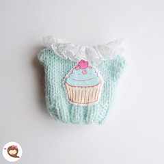 Cupcake knitted sweater fs. Ready to be shipped. Msg me if you would like to have it. Thanks!