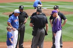 Kevin O'Sullivan & Finn Exchanging Lineup Cards (dbadair) Tags: kevin osullivan fin exchanging lineup cards lsu uf baseball 7d2 7dm2