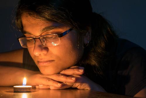 Aishwarya in candlelight