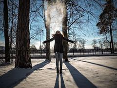 Zimo, wracaj! (thunder97x) Tags: nikon coolpix p530 winter snow sky trees happy sun shadows woman sesion memory warm highcontrast nikonpolska photography