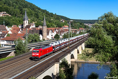 DB 185 194 in Gemünden am Main (TheKnaeggebrot) Tags: db ag schenker cargo autozug autotransportzug bombardier traxx 185 185194 gemünden am main