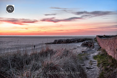 Red Rocks colour show (alun.disley@ntlworld.com) Tags: redrocks westkirby wirral merseyside beach landscape sky sunset weather wildgrass clouds colour paths spring season nature thegreatoutdoors