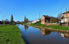 Canal at Barbridge (Eddie Crutchley) Tags: europe england cheshire barbridge outdoor blueskies canal reflections sunlight narrowboat barge bridge simplysuperb