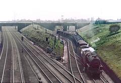 Farington Curve Junction 1968 (Terry's Railways) Tags: 44690 black5 faringtoncurvejunction coaltrain
