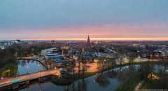 Leeuwarden skyline at sunset