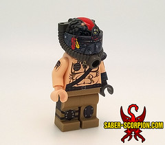 Fallout 2: Tribal Power Helmet (Saber-Scorpion) Tags: lego minifig minifigures moc fallout fallout2 powerarmor brotherhoodofsteel bos postapoc postapocalyptic