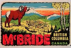 McBride, decal, 1960s (bbradleyaway) Tags: bc britishcolumbia decal mcbride