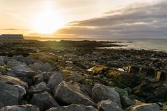 Sunset in Skerries (Daniel Dudek) Tags: skerries countydublin ireland ie sunset sun beach rocks sea irish irishsea