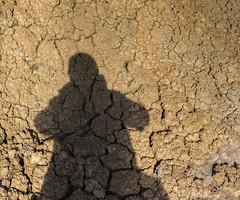 Selfie with cracks (kurjuz) Tags: brown clay earlymorning lowsun me orange racks selfie shadow