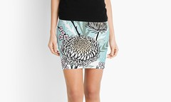 Graphic Asian Tattoo Style Skirt (shaire productions) Tags: skirt fashion floral flowers graphic design shaireproductions sherriethaiart asian tattoo art style modern contemporary japanese chinese pattern abstract pen inked ink drawing illustration women womens apparel print nature plants vegetation earthy artist ladies girls fashionista redbubble miniskirt urban wear indie designer etsy flower blossoms chrysanthemum leaves