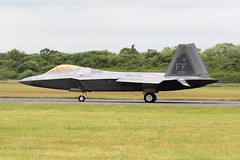 Lockheed Martin F-22 Raptor (Steve Moore-Vale) Tags: f22 raptor ff 1st fighter wing display riat royal international air tattoo raffairford taxiing uk airplane jet fast military defence superiority langley aeroplane combat plane lockheedmartin