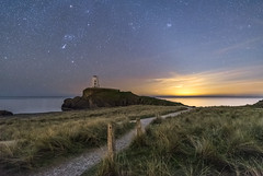 'Pathway To The Light' - Llanddwyn Island, Anglesey (Kristofer Williams) Tags: night sky stars nightscape landscape lighthouse path pathway marramgrass zodiacallight astro astrophotography orion anglesey wales