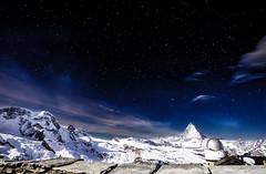 Au porte des étoiles (thanh_geneva) Tags: zermatt gornergrat wallis valais switzerland suisse alpes alps cervin matterhorn sky stars étoiles night mountains clouds astrophoto