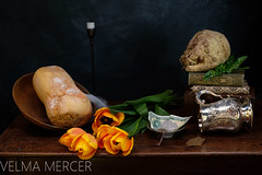 Still life... Natures Mortes... (Velmerc) Tags: stilllife vanitas death dying decay skull wealth rotting